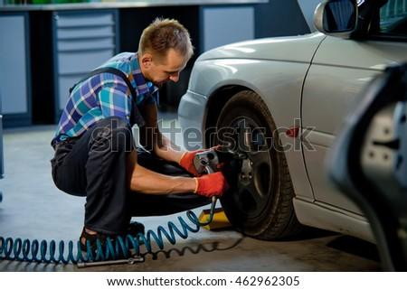 Detail image mechanic hands tool changing stock photo for Garage diagnostic auto