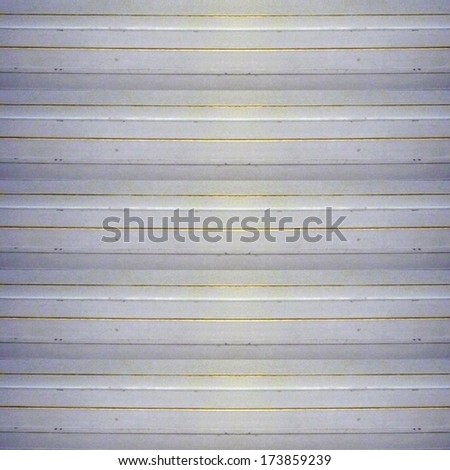 Real blind wood texture horizontal strips in white, yellow and gray tones. - stock photo