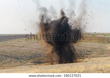 Real bomb explosion  - stock photo