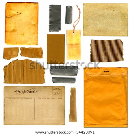 Real Cardboard And Paper Items - stock photo