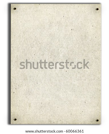 Real Cardboard On White - stock photo