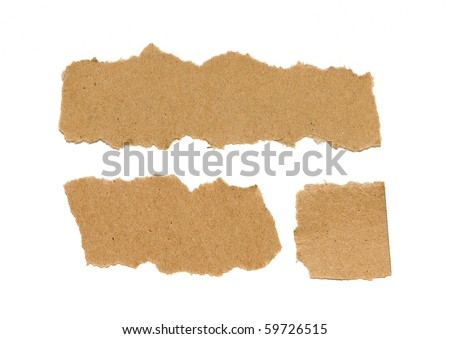 Real Cardboard Paper Pieces - stock photo