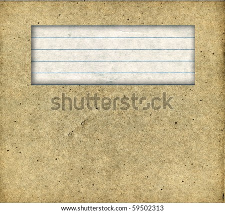 Real Cardboard With Copy Space - stock photo