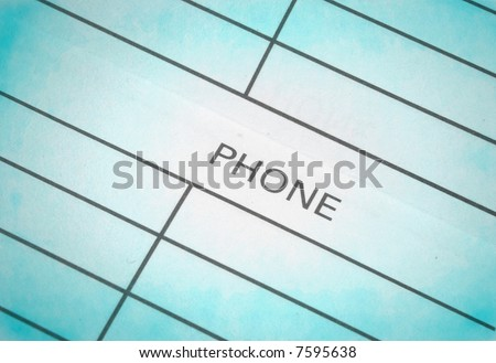 real close-up of address & phone book - stock photo