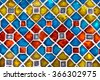 real colourful tile background wall - stock photo