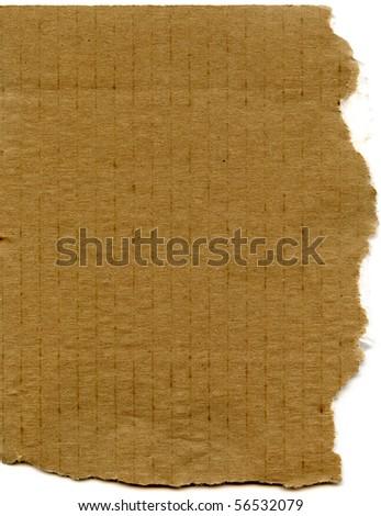 Real Corrugated Cardboard Scrap - stock photo