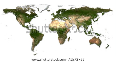 Real detail world map continents isolated stock photo royalty free real detail world map of continents isolated on white fone real colur of continents gumiabroncs Images