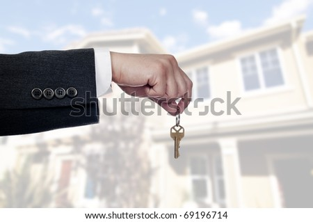 real estate agent - stock photo