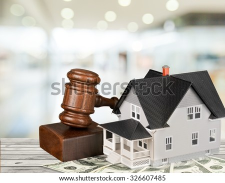 Real Estate Auction. - stock photo