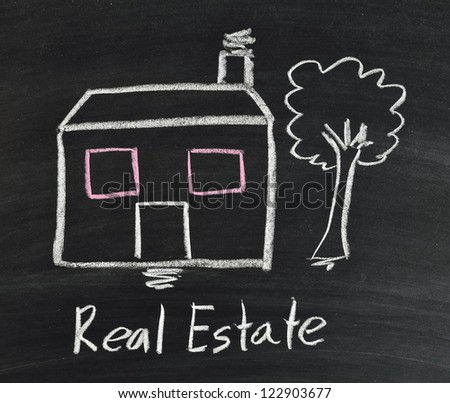 "real estate ""big house"" on blackboard"