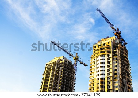 real estate concept. building of multistoried buildings - stock photo