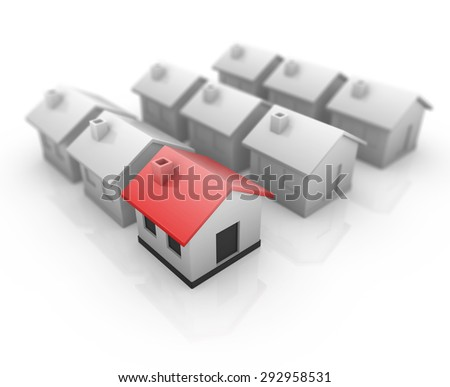 Real estate , 3d rendered image.