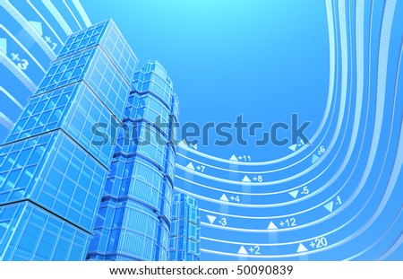 Real estate exchange - concept background - stock photo