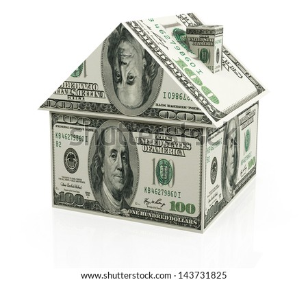 Real estate finance on the white background