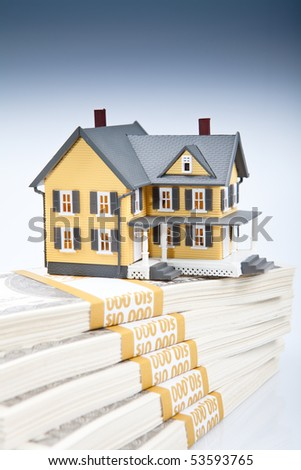 Real estate house On isolated white background - stock photo