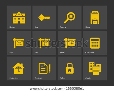 Real Estate icons. See also vector version. - stock photo