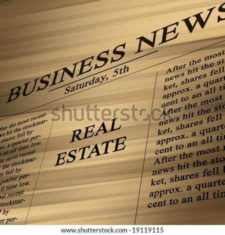 Real estate in the paper on a soft background