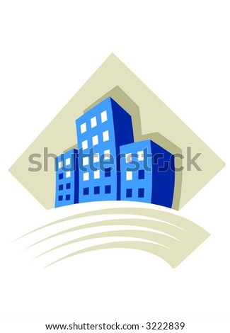 Real Estate logo 2 - stock photo