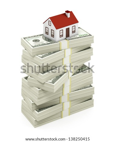 Real Estate on the white background - stock photo