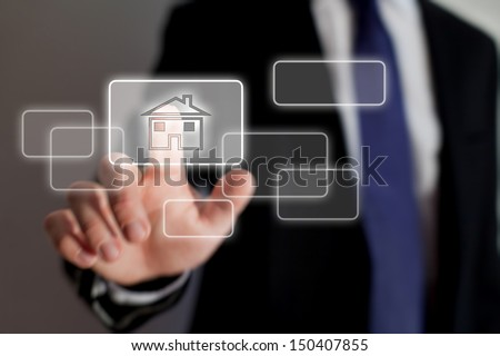 real estate online - stock photo