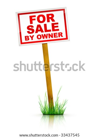 Real Estate Sign - For sale by Owner.