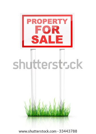 Real Estate Sign Property for sale