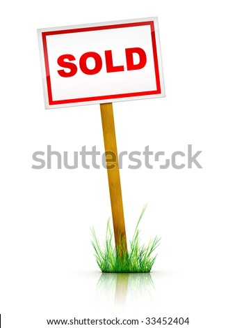 Real Estate Sign - Sold