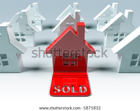 Real estate : sold - stock photo