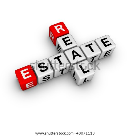 real estate symbol (from crossword series) - stock photo