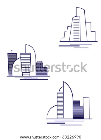 Real estate symbols for design and decorate - also as emblem or logo template. Vector version also available in gallery - stock photo