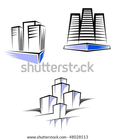 Real estate symbols for design and decorate or logo template or logo template. Vector version is also available  - stock photo