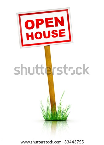 Real Estate Tablet - Open House - stock photo