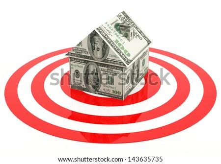 Real estate target - stock photo