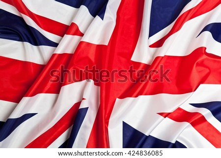 real Flag of the United Kingdom - stock photo