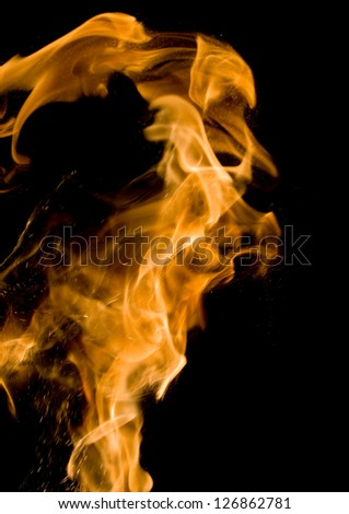 Real flame action - stock photo
