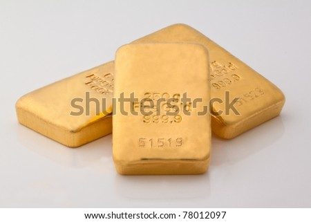 real gold - stock photo
