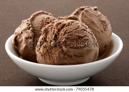 real gourmet chocolate ice cream, not made with mashed potatoes or shortening and meets all the regulations regarding using real dairy products to advertise dairy. - stock photo