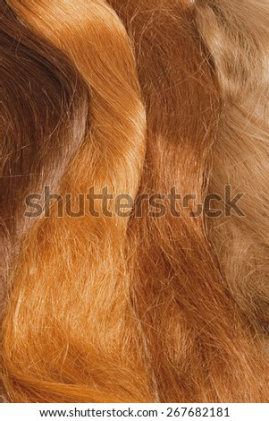 Real Human Hair Used for Production of Wigs  - stock photo