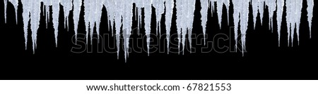real icicles with photoshop path click to copy for your project - stock photo