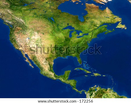 Real looking earth map north america stock photo royalty free real looking earth map north america in the center globe is accurate and right gumiabroncs Gallery