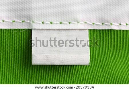 real macro of blank tag - stock photo