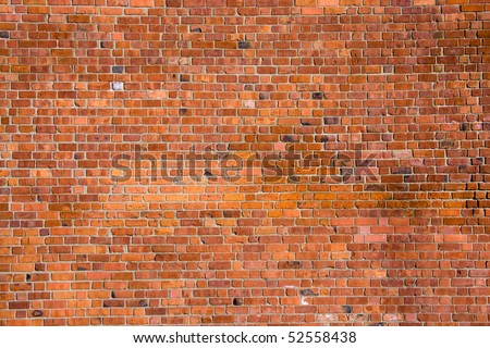 Real old brick wall texture useful for background - stock photo