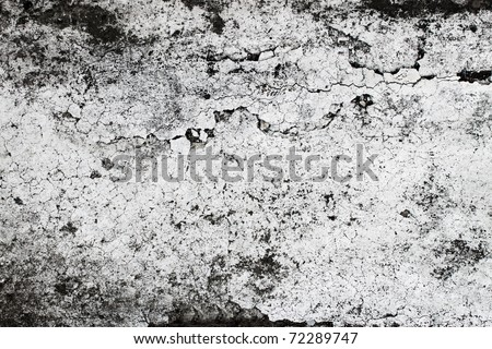 Real & Old cement wall texture - stock photo