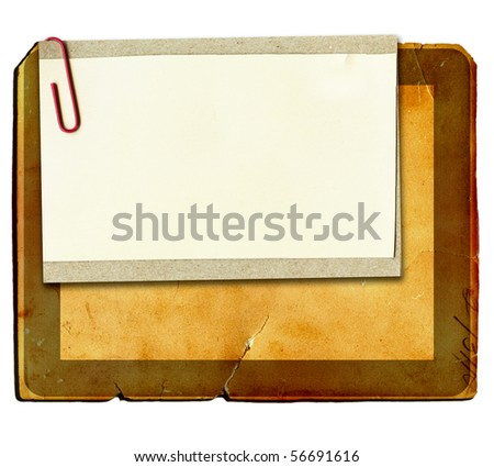 Real Paper On Cardboard - stock photo