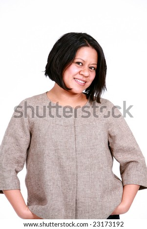 real people adult latina woman smiling