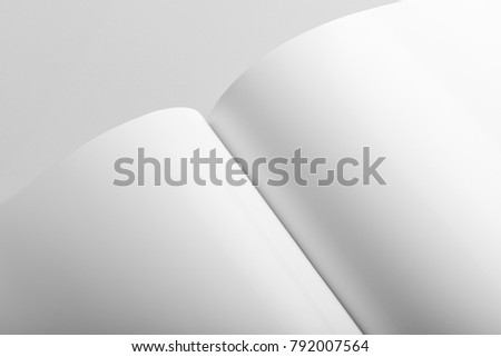 Real Photo Brochure Mockup Template Softcover Stock Photo Royalty