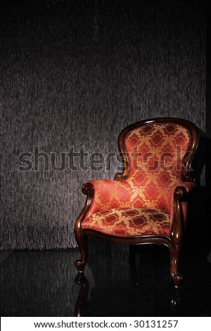 Real photo of classic armchair - stock photo