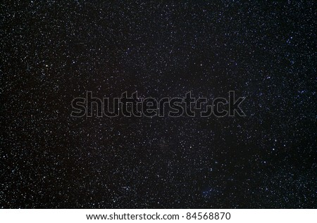 Real photograph of stars in the night sky. Ideal as a background. - stock photo