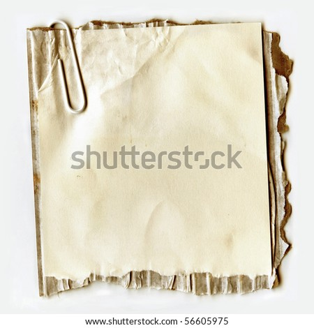 Real Ripped Paper On Cardboard - stock photo