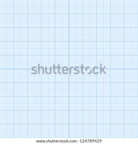 Real size blue  millimeter engineering paper. Vector version also exist. - stock photo